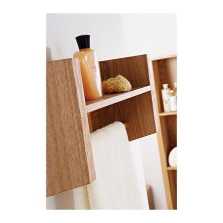 Mountrose Oakley Towel Rail with Shelf in Ash