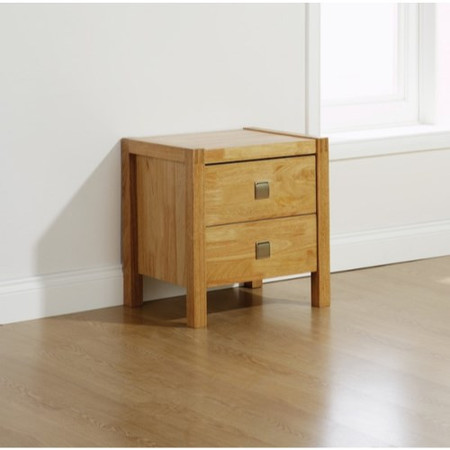 Mountrose Vienna Solid Wood 2 Drawer Bedside Table
