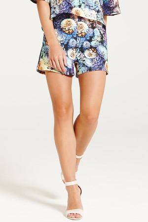 Multi Blue Floral Shorts