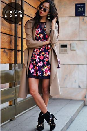 Navy Kaleidoscope Floral Shift Dress