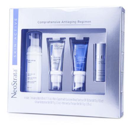 Neostrata Skin Active Comprehensive Antiaging Regimen: Exfoliating Wash 40ml + Matrix Support 15g + Cellular Restoration 15g... 4pcs