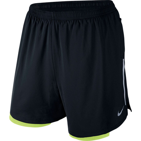 """Nike 5"""" Phenom Short (2in1, HO15) - Small Black/Volt/Silver"""