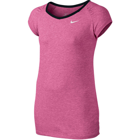 Nike Dri-FIT Cool Short Sleeve Top Youth - SU15 - Small Pink/Black
