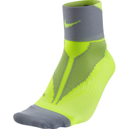 Nike Elite Run Lightweight Quarter (HO15) - X Small Volt/Wolf Grey