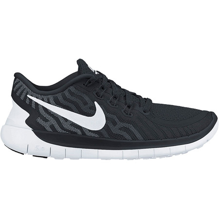 Nike Women's Free 5.0 Shoes (HO15) - UK 4 Black/White/Grey
