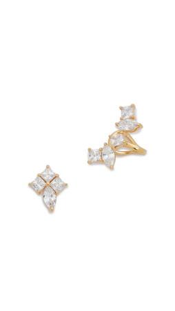 Noir Jewelry Azalea Earrings - Clear/Gold
