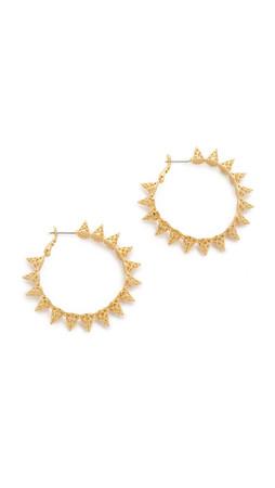 Noir Jewelry Call Me Hoop Earrings - Gold