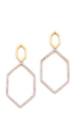 Noir Jewelry Open Acess Earrings - Gold/Clear