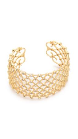 Noir Jewelry Replay Cuff Bracelet - Gold/Clear
