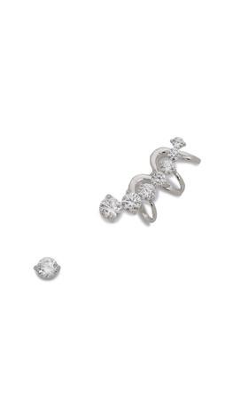 Noir Jewelry Rise Earrings - Rhodium/Clear