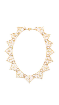 Noir Jewelry Tessellation Necklace - Gold/Clear