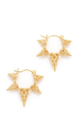 Noir Jewelry X Ray Hoop Earrings - Gold