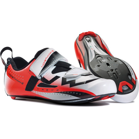 Northwave Extreme Triathlon Shoes - 48 White/Red | Tri Shoes