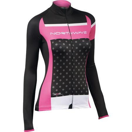 Northwave Logo Women's Long Sleeve jersey - Medium Black/Fuchsia