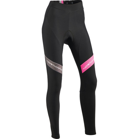 Northwave Logo Women's Tights - Large Black/Fuchsia | Cycle Tights