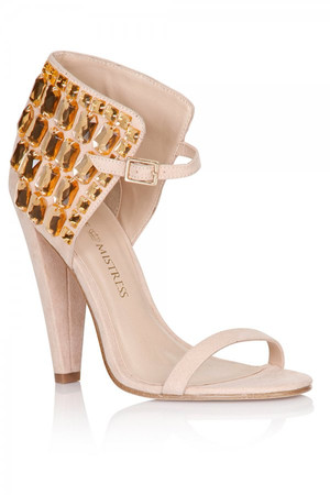 Nude Gem Ankle Detail Heels