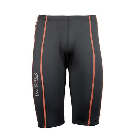 OMM Flash Tight 0.5 - Large Black/Orange | Running Tights