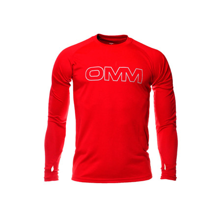 OMM Trail Tee Long Sleeve - Extra Large Red | Long Sleeve Running Tops