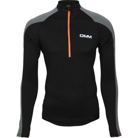 OMM Vector Zip - Medium Black/Grey | Long Sleeve Running Tops