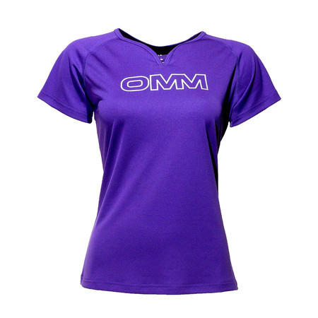 OMM Women's Trail Tee - Large Purple | Running Short Sleeve Tops