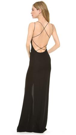 Olcay Gulsen Crossed Back Maxi Dress - Black