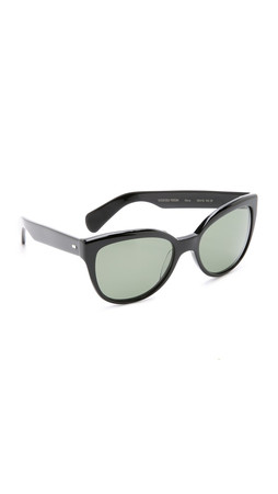 Oliver Peoples Eyewear Abrie Polarized Sunglasses - Black/G15