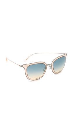 Oliver Peoples Eyewear Annetta Sunglasses - Brushed Silver/Opal Dusk