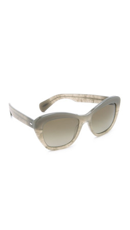 Oliver Peoples Eyewear Emmy Sunglasses - Cement/Hazel Gradient