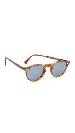 Oliver Peoples Eyewear Gregory Peck Sunglasses - Semi Matte Lbr/Indigo Photo