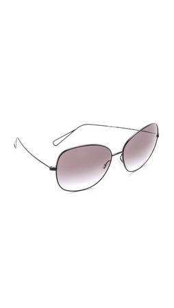 Oliver Peoples Eyewear Isabel Marant Par Oliver Peoples Daria Sunglasses - Matte Black/Grey Gradient