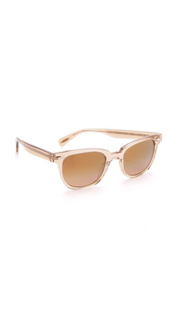 Oliver Peoples Eyewear Masek Sunglasses - Blush/Rose Quartz Mirror