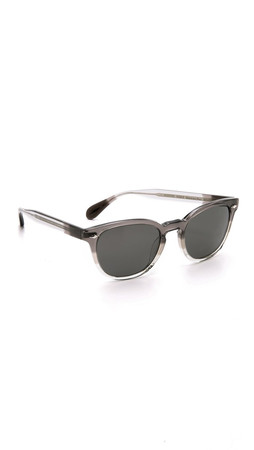 Oliver Peoples Eyewear Sheldrake Plus Polar Sunglasses - Grey Fade/Graphite