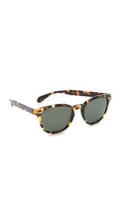 Oliver Peoples Eyewear Sheldrake Plus Polarized Sunglasses - Dark Tortoise Brown/G15
