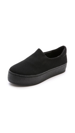 Opening Ceremony Cici Slip On Platform Sneakers - Black