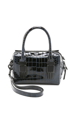 Opening Ceremony Croc Embossed Mini Lele Bag - Black Multi