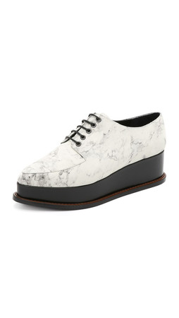 Opening Ceremony Eleanora Platform Oxfords - Off White Multi