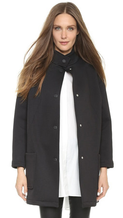 Opening Ceremony Flip Bonded Barn Coat - Black