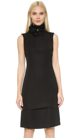 Opening Ceremony Funnel Neck Sleeveless Dress - Black