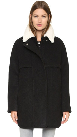 Opening Ceremony Morgane Oversized Coat - Black