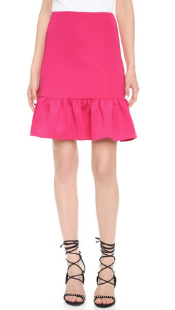 Opening Ceremony Neoprene Dropwaist Ruffle Skirt - Raspberry