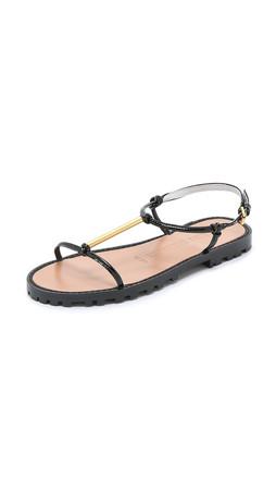 Opening Ceremony Oc T Strap Sandals - Black