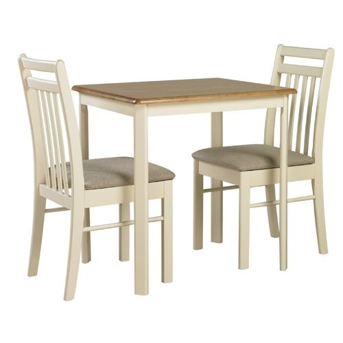 dining table and 2 chairs in oak and ivory best buy furniture uk