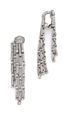 Oscar De La Renta Chandelier Earrings - Crystal/Silver