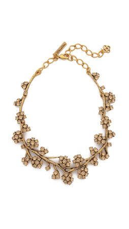 Oscar De La Renta Crystal Branch Necklace - Topaz