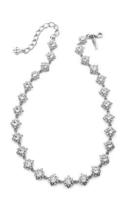 Oscar De La Renta Delicate Star Necklace - Crystal/Silver