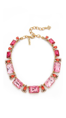 Oscar De La Renta Large Octagon Stone Necklace - Amaranth