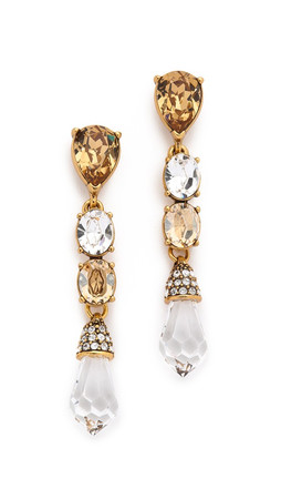 Oscar De La Renta Pendant Earrings - Tobacco
