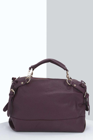 Oversized Day Bag plum
