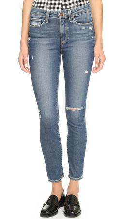 Paige Denim Hoxton Ankle Skinny Jeans - Toren Destructed