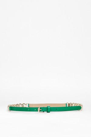 Paige Leather Waist Belt - MIDORI